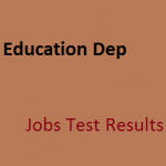 AJK Elementary Secondary Education Department Jobs NTS Result