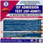Institute of Southern Punjab ISP Admission NTS Online Registration