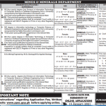 Mines and Minerals Department PPSC Lahore Jobs