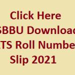 Shaheed Benazir Bhutto University Sheringal Dir Upper KPK ATS Roll Number Slip 2021