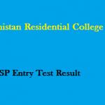 Baluchistan Residential College Zhob CTSP Entry Test Result