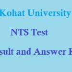 Kohat University NTS Entry Test Result February MPhil PhD