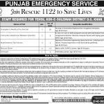 Punjab Rescue 1122 PTS Jobs Apply Online Phase II